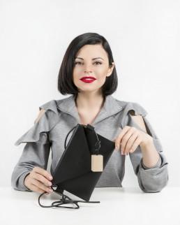 erikahoc Reda Mickeviciute portrait Mini Bag